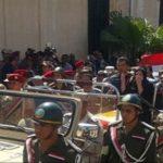 تعليمات أمنية بمنع تصوير جنازة شهداء الواحات بمسجد الشرطة