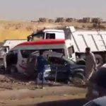 مصرع 5 أشخاص فى حادث تصادم بأطفيح