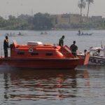 نجاة مركب استغاثت بـ الإنقاذ النهرى فى الجيزة