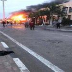 صور| اشتعال حريق بالنادي الأهلي في الشيخ زايد