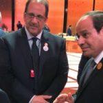 حديث جانبى بين الرئيس السيسى وميشال عون على هامش القمة العربية