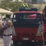 تشييع جنازة عمرو عبد المنعم شهيد حادث طرة من مسجد الشرطة بالتجمع..فيديو وصور