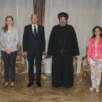 نيافة الأنبا إرميا يستقبل سفير المجر بالقاهرة أوندراش إيمرا كوفاشي